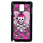 Princess Skull Heart Samsung Galaxy Note 4 Case (Black)