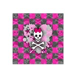 Princess Skull Heart Satin Bandana Scarf