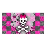 Princess Skull Heart Satin Shawl