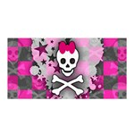 Princess Skull Heart Satin Wrap