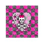 Princess Skull Heart Small Satin Scarf (Square)