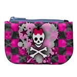 Princess Skull Heart Large Coin Purse