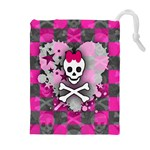 Princess Skull Heart Drawstring Pouch (XL)