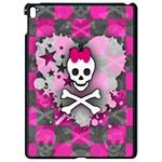 Princess Skull Heart Apple iPad Pro 9.7   Black Seamless Case