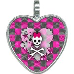 Princess Skull Heart Heart Necklace