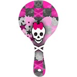 Princess Skull Heart Mini Wooden Mirror