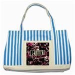 Punk Princess Striped Blue Tote Bag