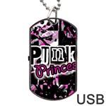 Punk Princess Dog Tag USB Flash (One Side)