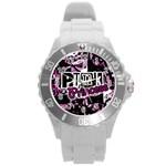 Punk Princess Round Plastic Sport Watch (L)
