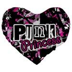 Punk Princess Large 19  Premium Heart Shape Cushion
