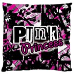Punk Princess Standard Flano Cushion Case (One Side)