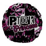 Punk Princess Large 18  Premium Flano Round Cushion