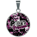 Punk Princess 25mm Round Necklace