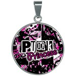 Punk Princess 30mm Round Necklace