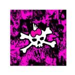Punk Skull Princess Small Satin Scarf (Square)