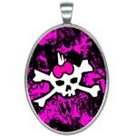 Punk Skull Princess Oval Necklace