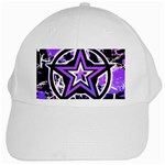 Purple Star White Cap