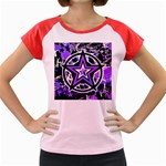 Purple Star Women s Cap Sleeve T-Shirt
