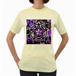 Purple Star Women s Yellow T-Shirt