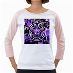 Purple Star Girly Raglan