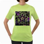 Purple Star Women s Green T-Shirt