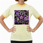 Purple Star Women s Fitted Ringer T-Shirt