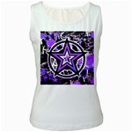 Purple Star Women s White Tank Top