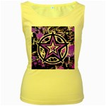 Purple Star Women s Yellow Tank Top
