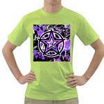 Purple Star Green T-Shirt