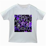 Purple Star Kids  White T-Shirt