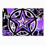 Purple Star Postcard 5  x 7