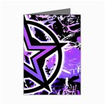 Purple Star Mini Greeting Card