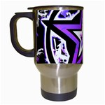 Purple Star Travel Mug (White)