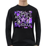 Purple Star Long Sleeve Dark T-Shirt