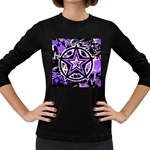 Purple Star Women s Long Sleeve Dark T-Shirt