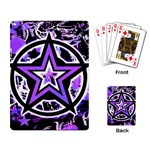 Purple Star Playing Cards Single Design (Rectangle)