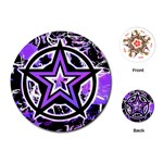Purple Star Playing Cards Single Design (Round)