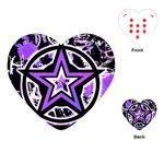 Purple Star Playing Cards Single Design (Heart)