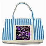 Purple Star Striped Blue Tote Bag