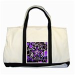 Purple Star Two Tone Tote Bag