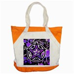 Purple Star Accent Tote Bag