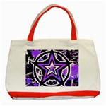 Purple Star Classic Tote Bag (Red)