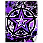 Purple Star Canvas 12  x 16