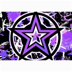 Purple Star Canvas 12  x 18
