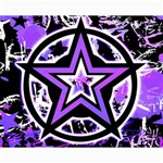 Purple Star Canvas 16  x 20
