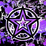 Purple Star Canvas 20  x 20