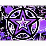 Purple Star Canvas 18  x 24