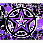 Purple Star Canvas 20  x 24