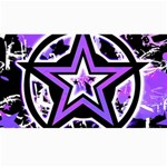 Purple Star Canvas 40  x 72