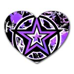 Purple Star Heart Mousepad